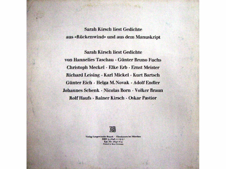 Sarah Kirsch Liest Gedichte Vinyl Lp Record Schallplatte