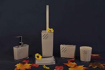 Toilet Accessoires Set : Duygu 5 tlg. badezimmer set bad seifenspender accessoire set wc set