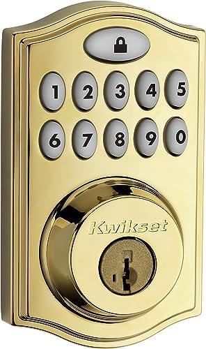 Kwikset 99140-008 SmartCode 914 Keypad Keyless Entry Zigbee Smart Lock Connected Deadbolt Door Lock Featuring SmartKey Security
