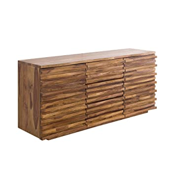 Riess Ambiente Massives Sideboard Relief 160cm Sheesham Holz Stone