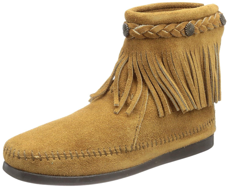 Minnetonka Women's 299 Back-Zip Boot B004P8NFOG 11 B(M) US|Taupe Suede