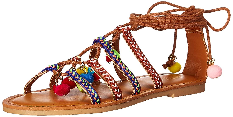 Topline Womens Ohmy Flat Sandal Multi Size 75