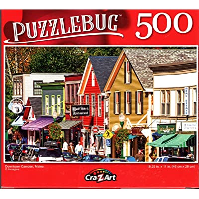 Downtown Camden, Maine - 500 Pieces Jigsaw Puzzle: Toys & Games