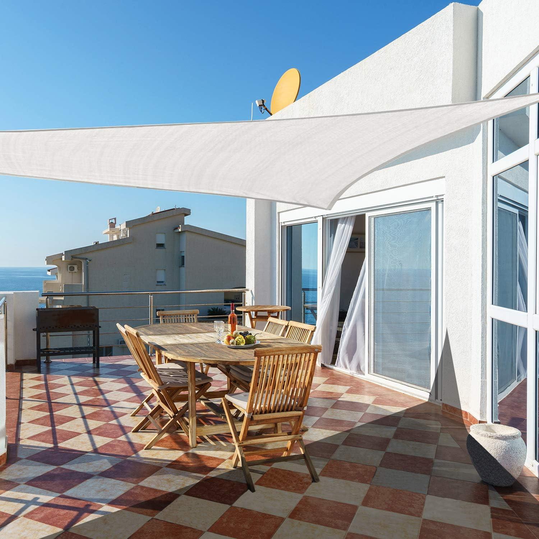 Sand Cool Area Sonnensegel Dreieck 5 x 5 x 5 Meter Sonnenschutz HDPE wetterbest/ändig f/ür Garten und Balkon