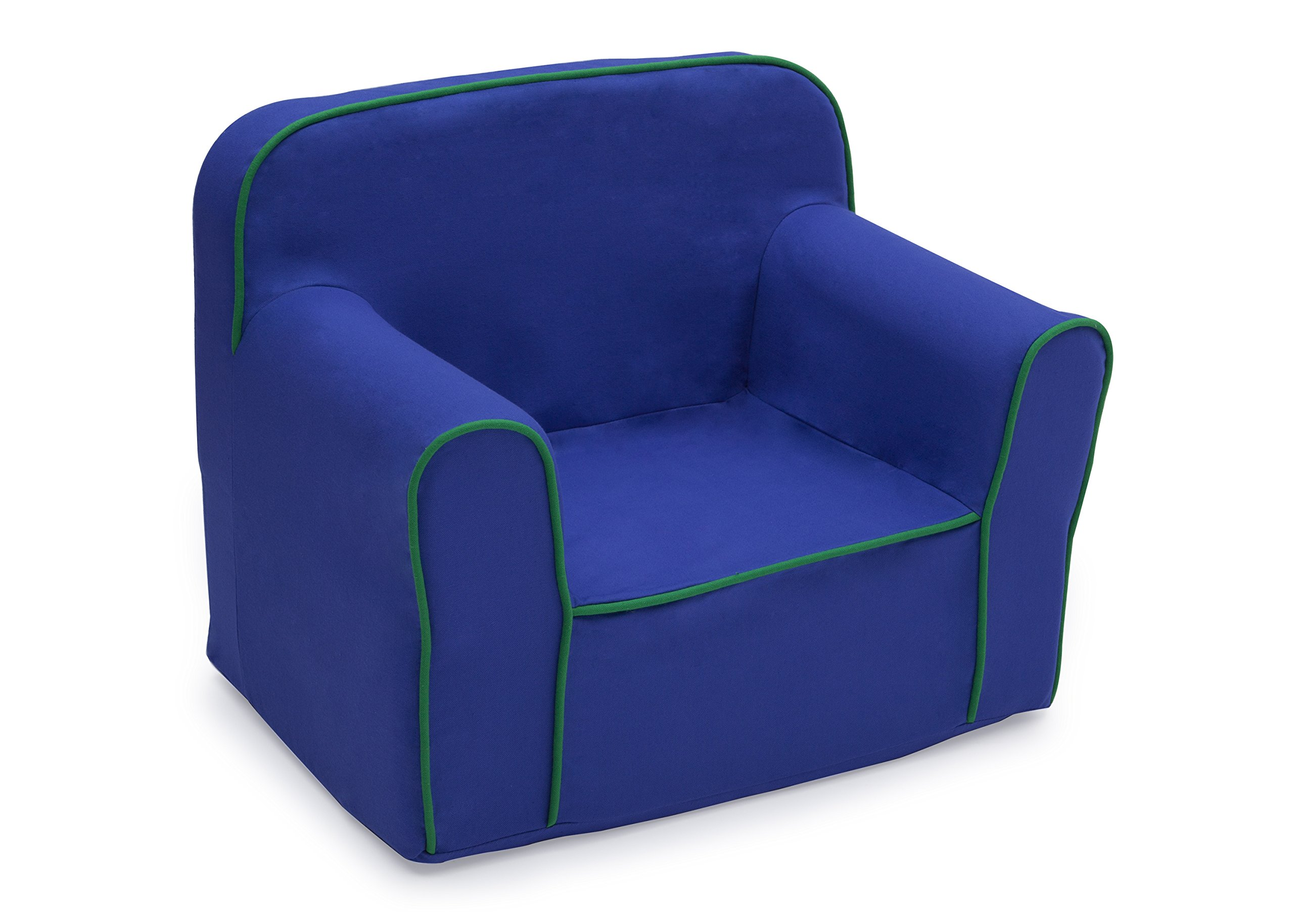 Delta Children Foam Snuggle Chair, Blue with Green