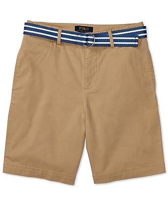 Ralph Lauren Stripe Belt and Twill Shorts, Big Boys (8-20) (