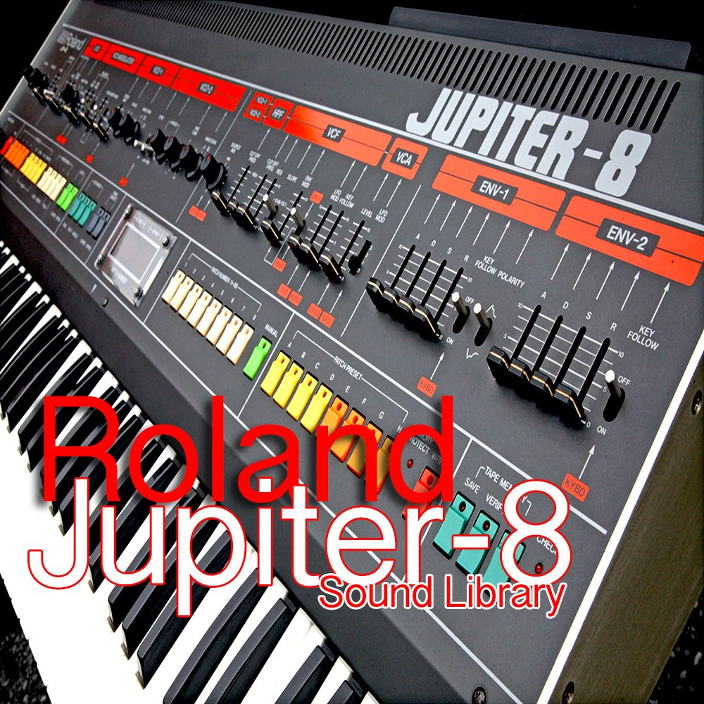for ROLAND Jupiter-8 - Huge Perfect Original Sound (Samples) Library in WAVes format on DVD or download by SoundLoad