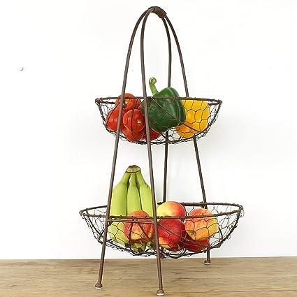 Almacenaje de la cocina cesta - fruta y verdura: Amazon.es: Hogar
