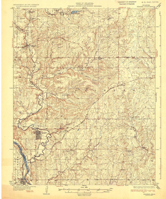 Amazon.com : YellowMaps Fairfax OK topo map, 1:62500 Scale ...