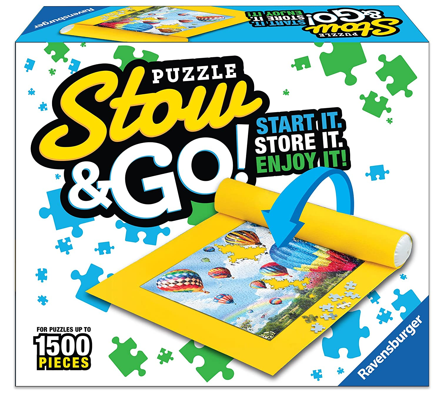 amazon com ravensburger 17960 puzzle stow and go 1500 pieces 46 x