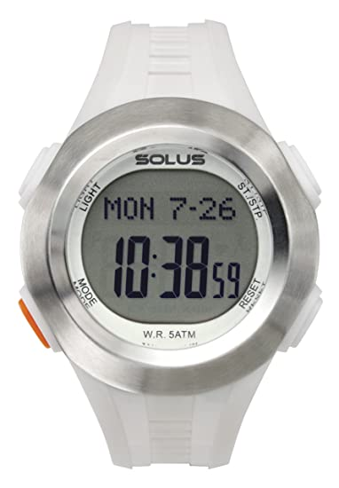 Solus SL-101-003 - Reloj digital unisex, correa de plástico color blanco: Amazon.es: Relojes