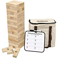 GoSports Large Toppling Tower with Bonus Rules - Starts at 1.5' and Grows to Over 3' -Made from Premium Pine Blocks