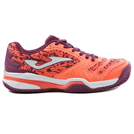Zapatilla Padel Slam Lady 707 CORAL CLAY 40: Amazon.es ...