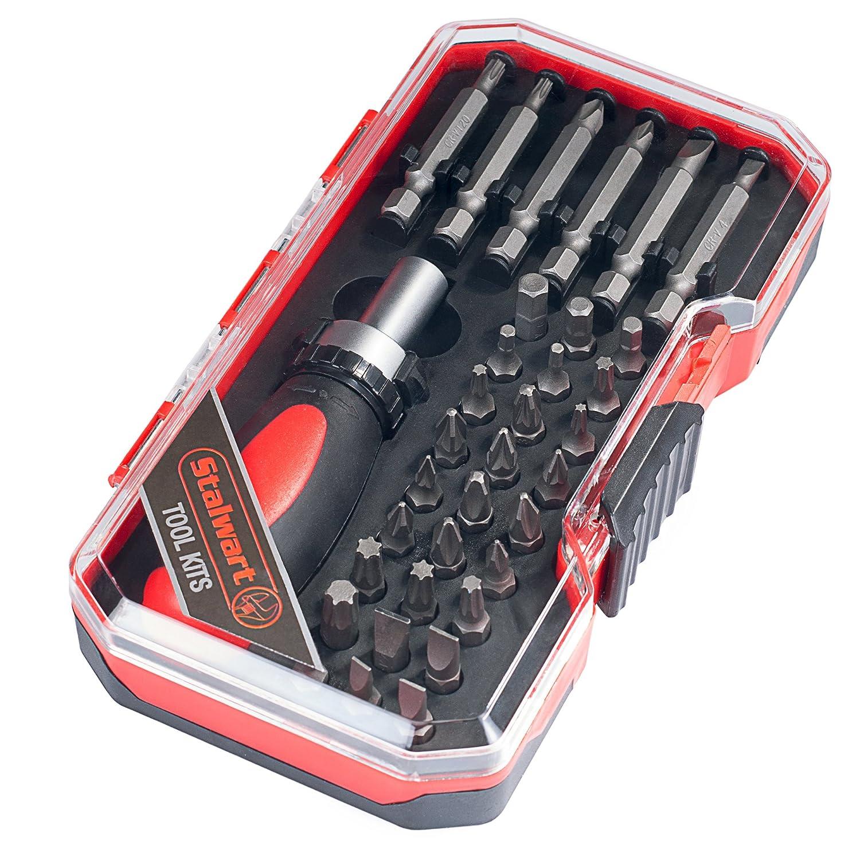 Stalwart 75-HT4023B Ratchet Metric Socket and Bit Set 23 Piece