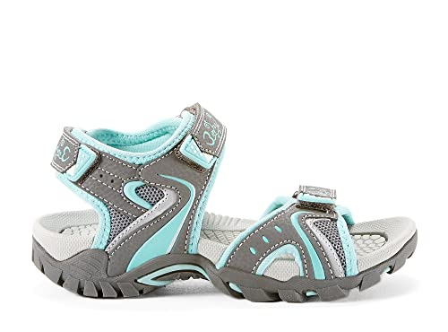 24d03bd7a94b MID SUMMER Girls Kids Turquoise Sport Sandals (Little Kid Sizes) - Casual    Comfortable - Sandal with Velcro Straps Made from Synthetic Leather ...