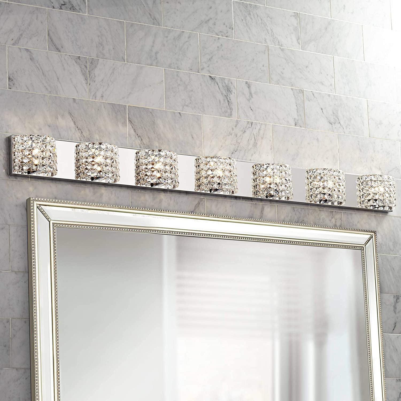 Cesenna Modern Wall Mount Light Chrome Silver Metal Hardwired 64 1/4