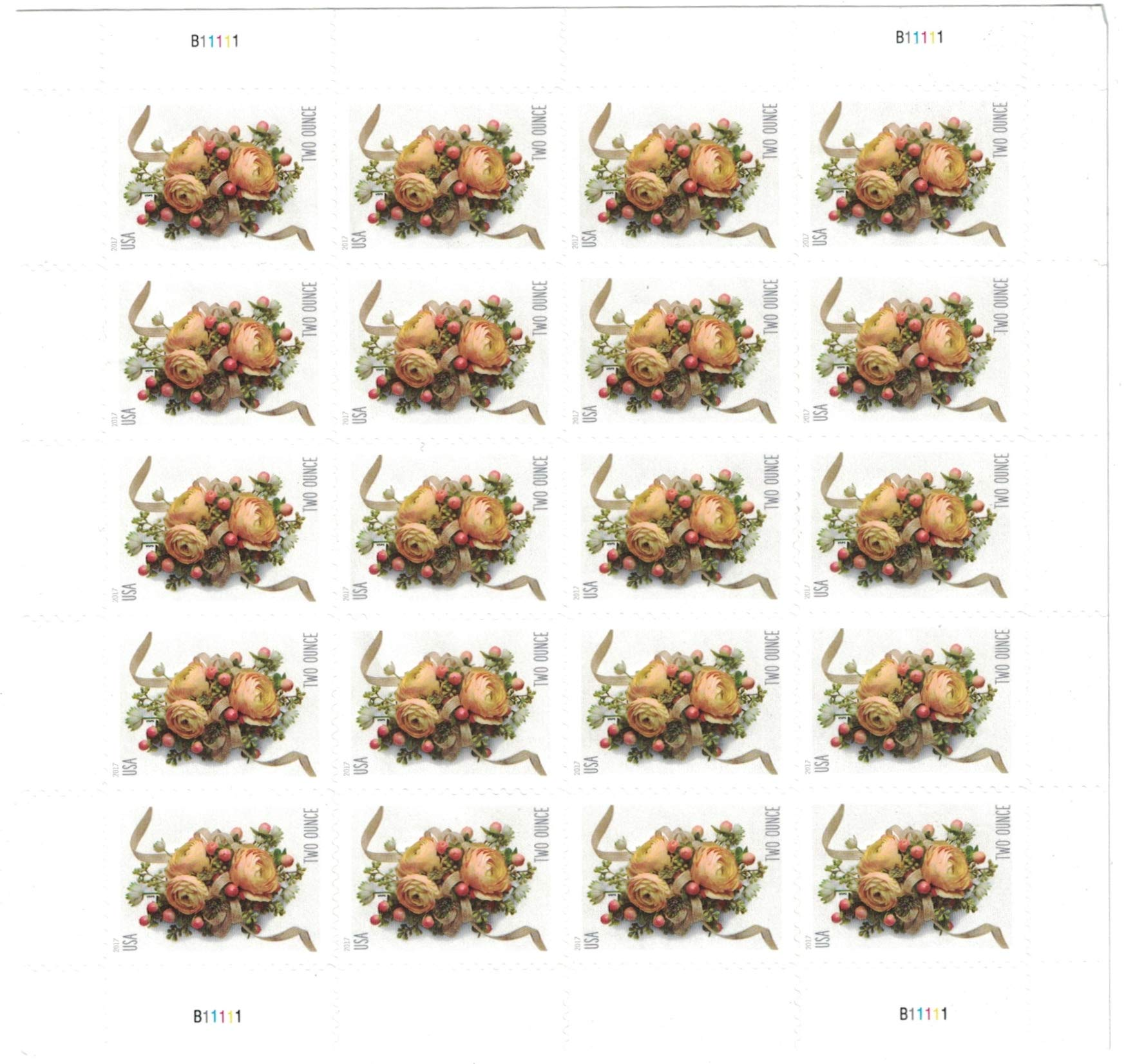 USPS Two-Ounce Forever Stamps Sheet of 20 - New Stamp Issued 2017
