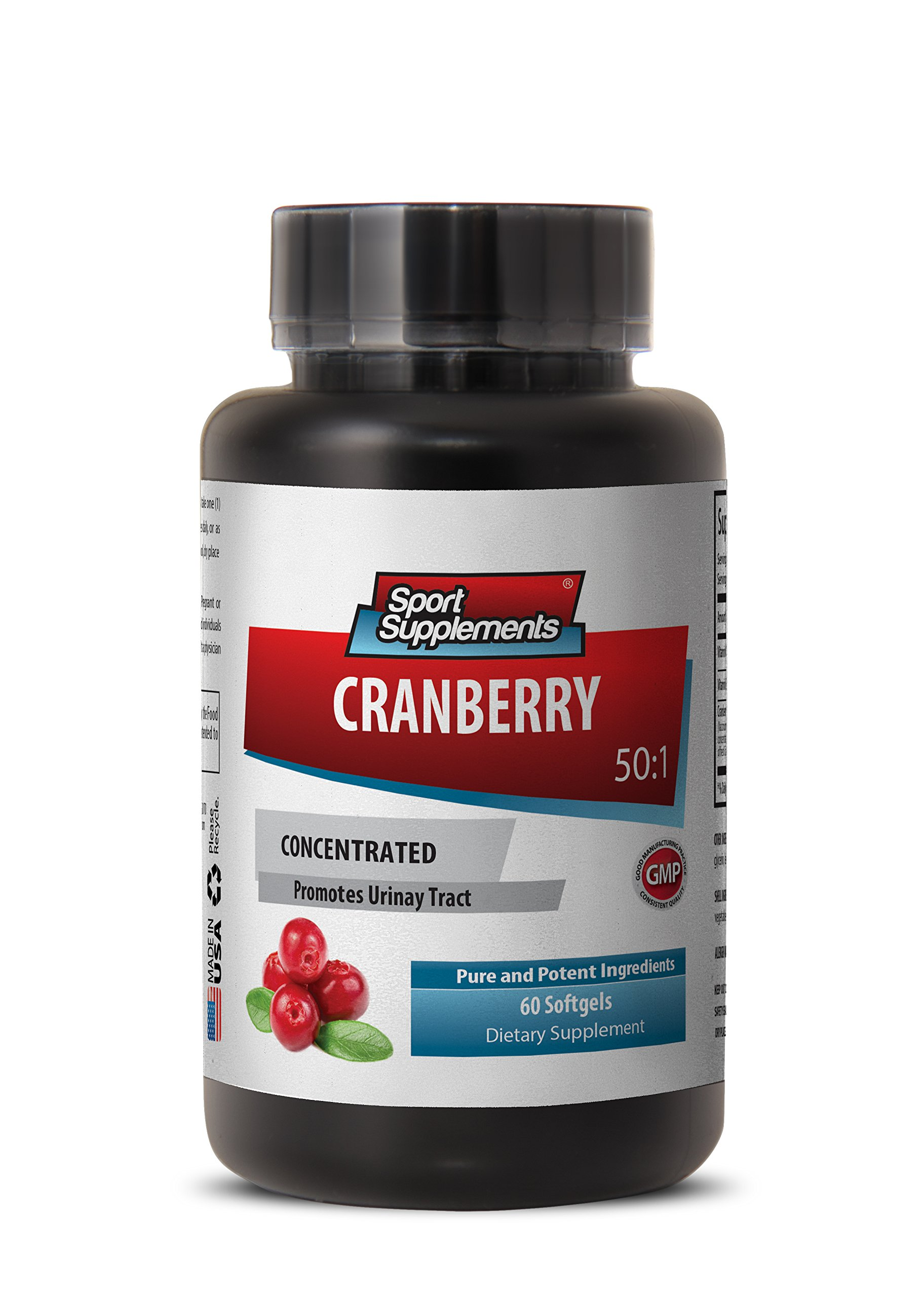 Cranberry softgels for women - CRANBERRY CONCENTRATED 252Mg with Vitamins C and E - Heart health vitamins - 60 softgels