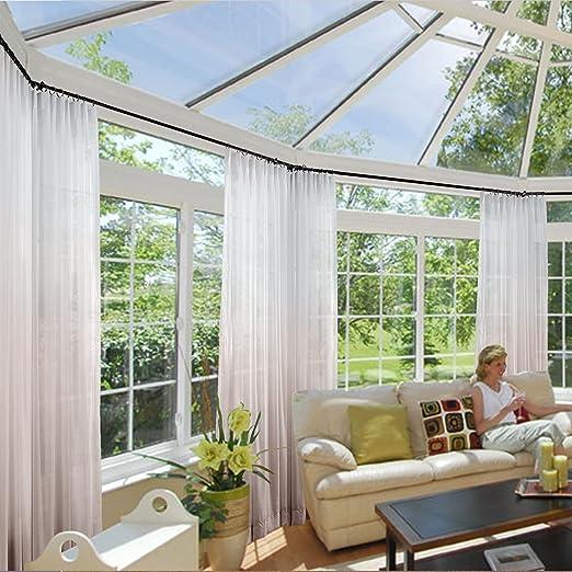 Macochico - Cortinas para interior y exterior, con pliegues para patio, jardín, patio, carpa de porche, sala
