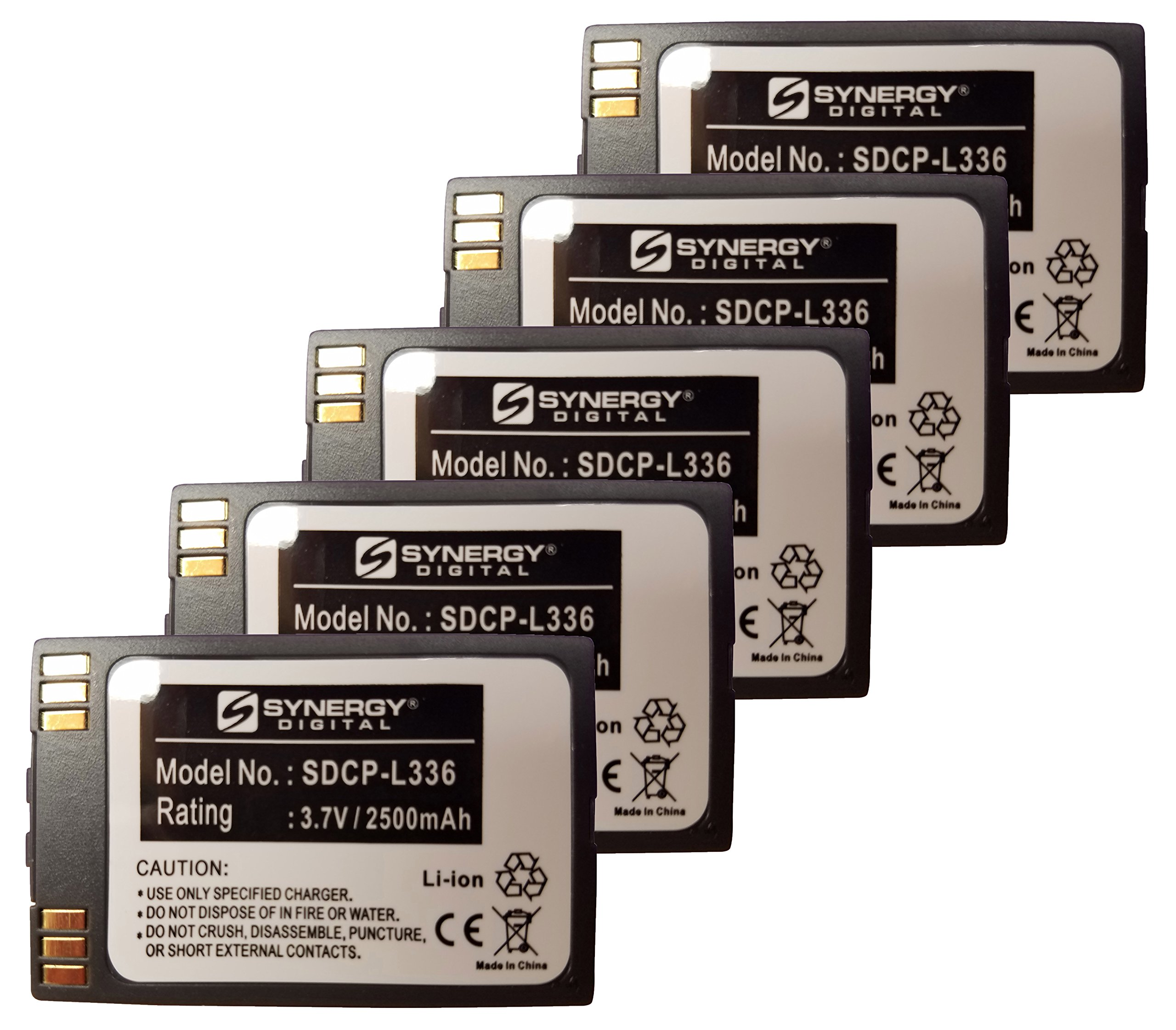 SPECTRALINK 6020 Cordless Phone Battery Combo-Pack includes: 5 x SDCP-L336 Batteries
