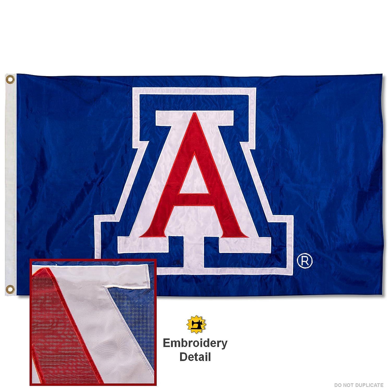 Arizona Wildcats Embroidered and Stitched Nylon Flag