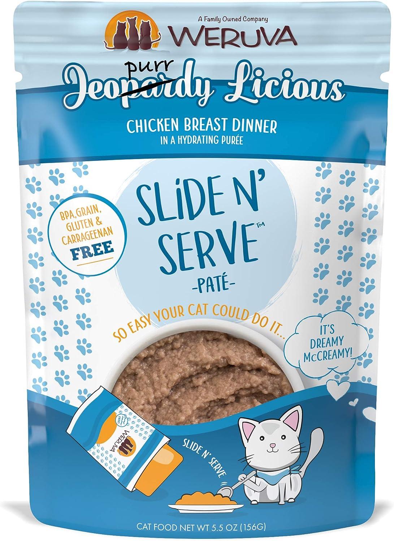 Weruva Classic Cat Slide N' Serve Grain-Free Natural Wet Pate Cat Food Pouches