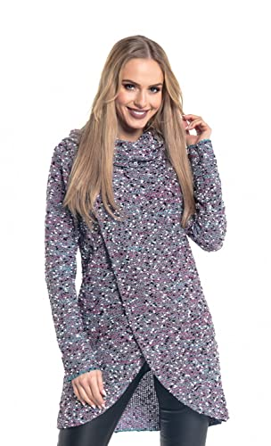 Glamour Empire. Para Mujer Pulóver Jersey De Punto Cruzado Diseño de Capa. 359