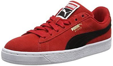 new style 976f6 a5275 Amazon.com | Puma Suede Classic Low-Top Sneakers, Ribbon Red ...