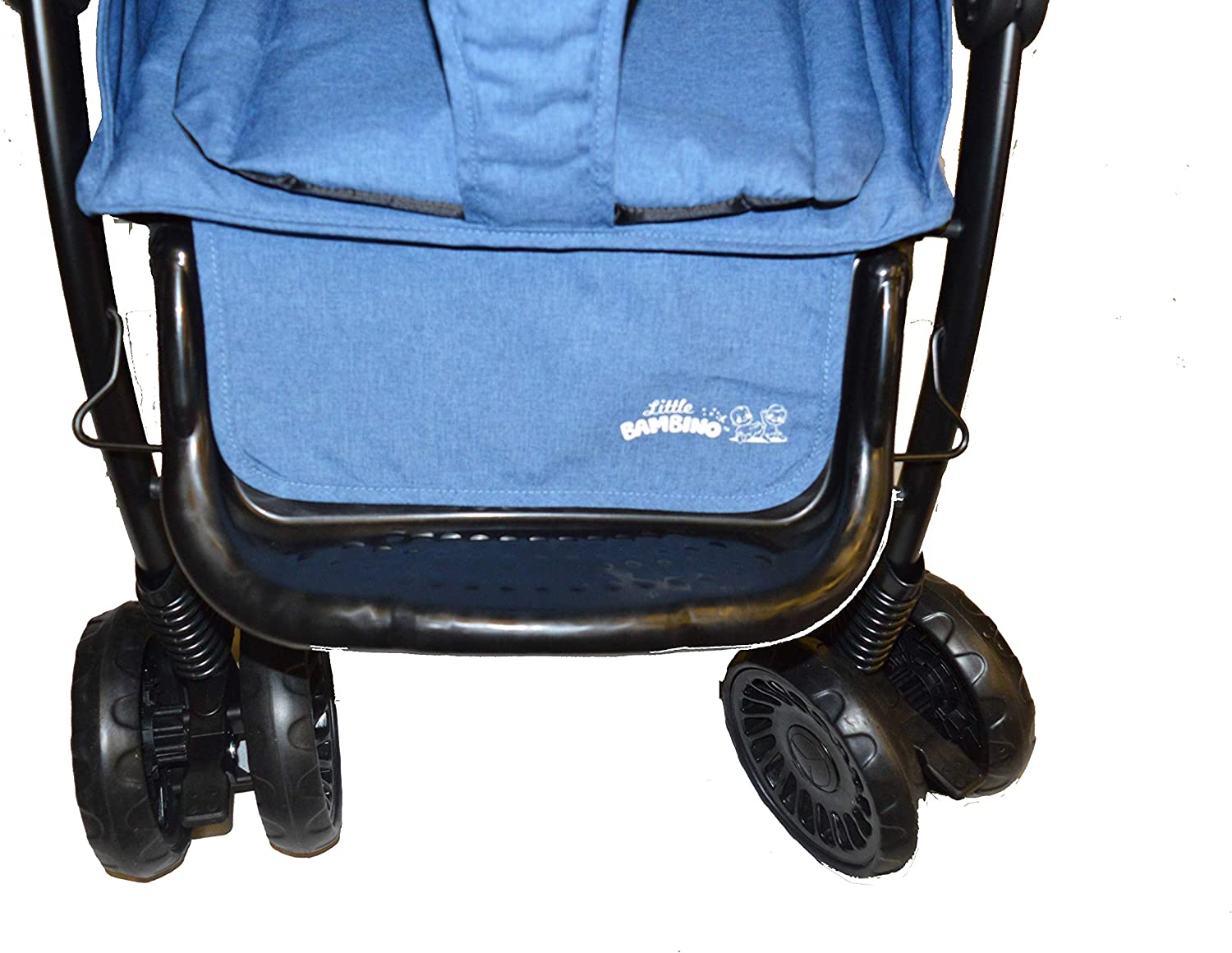 Adjustable Backrest Buggy Stroller Toddler Lightweight Pushchair Kids Four Wheel Pushchair with One Hand Fold Buggy with Lying Position with Safe Five-Point Harness and Brake Small Foldable