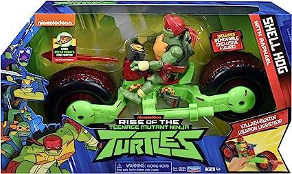 Rise of the Teenage Mutant Ninja Turtles Shell Hog avec Michelangelo Exclusive