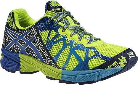 ASICS - Zapatillas de Running de sintético para niña Lime/Blau Azul Marine Talla:34.5: Amazon.es: Deportes y aire libre