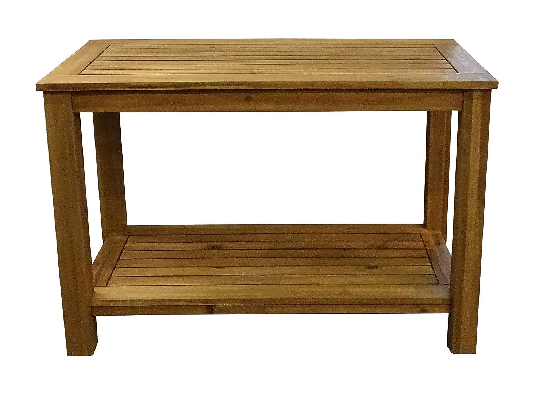Grasekamp Akazien Tisch 100x45x75cm Kaffeetisch Gartenmöbel Couchtisch Gartentisch