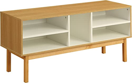 ACME Furniture 90168 Drivia Natural and Ivory Console Table, 1 Size