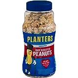 Planters Peanuts, Dry Roasted & Unsalted, 16 Ounce Jar