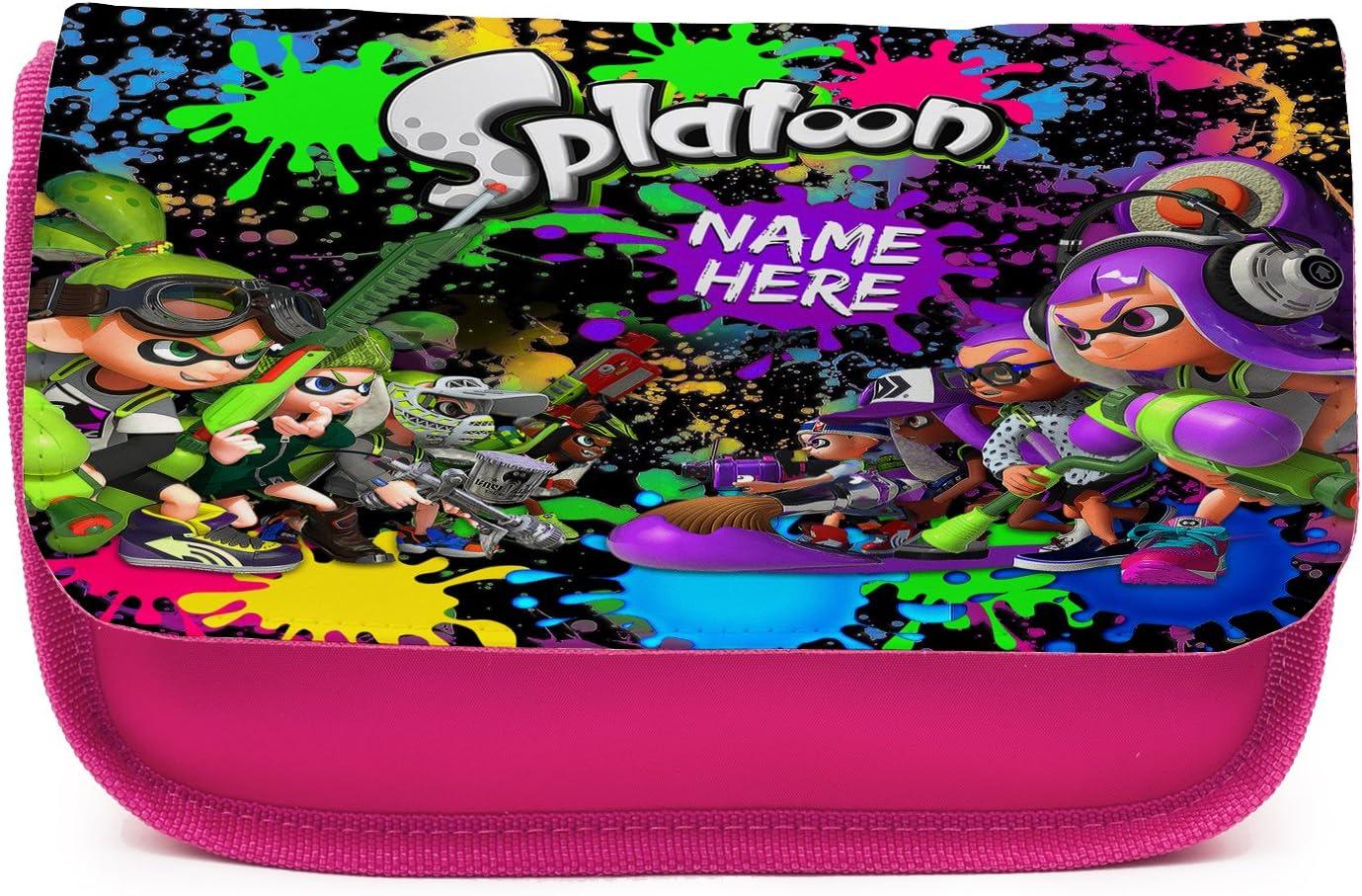 Estuche para lápices personalizado Splatoon Gamer ST849 para niñas, bonito estuche escolar, color rosa: Amazon.es: Oficina y papelería