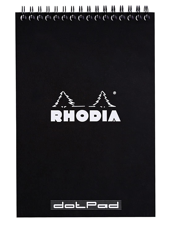 Rhodia N°16 Bloc Agrafé 80 feuilles détachable petit carreaux A5 Blanc