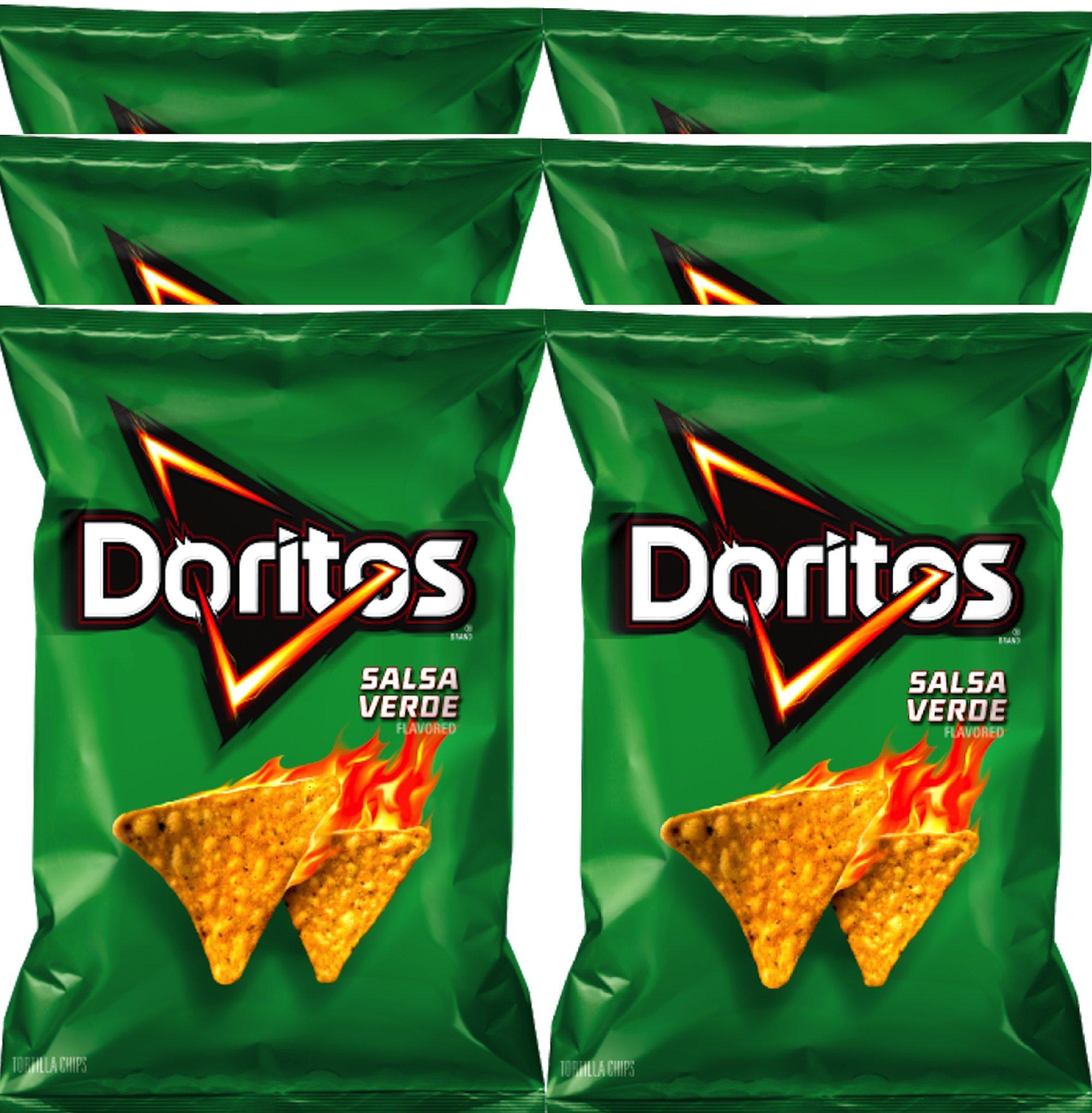 Doritos Salsa verde Flavored Tortilla Chips 9.75 oz Bags (6) by Doritos