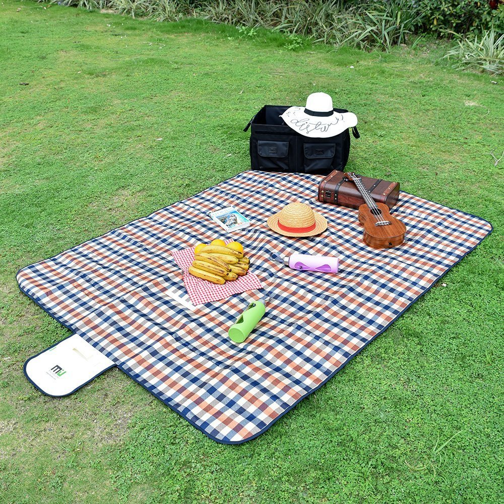 2-4 Person Festival MIU COLOR Outdoor Camping Blanket 3 Layers Thickened Waterproof Picnic Mat Ground Cover Park Lawn Party Multipurpose Outdoor//Indoor Beach Blanket for Hiking