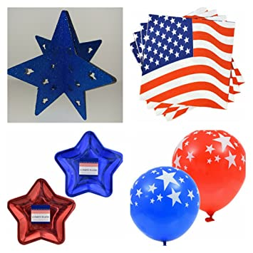 Amazon Com Patriotic Independence Day Table Top Decorations With