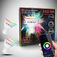 B.K.Licht I Juego de 2 LED GU10 Wi-Fi