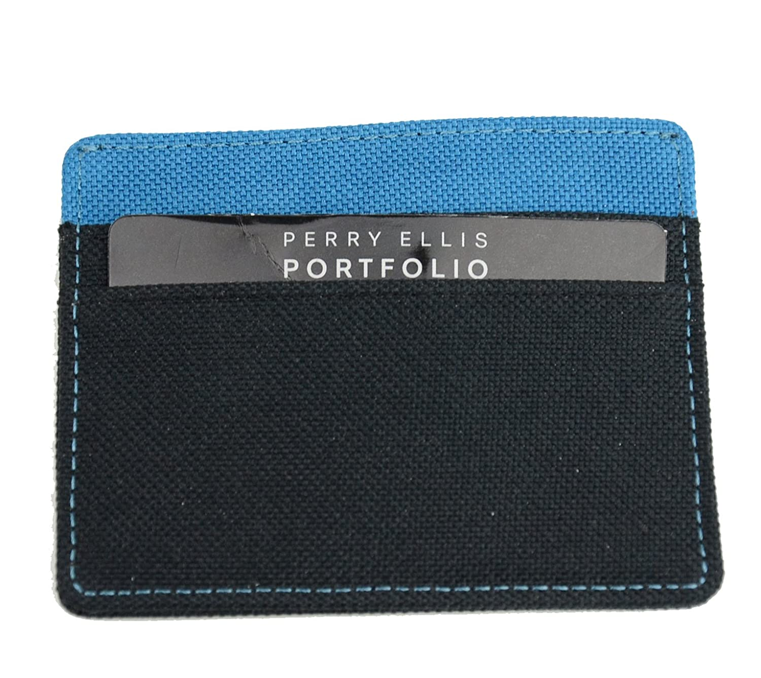 info for ad1a4 09bc2 Perry Ellis Portfolio Gift Men's Fabric Card Case Wallet at Amazon ...