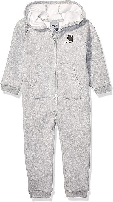 Carhartt Baby Girls Full Zip Hooded Coverall Bodysuit