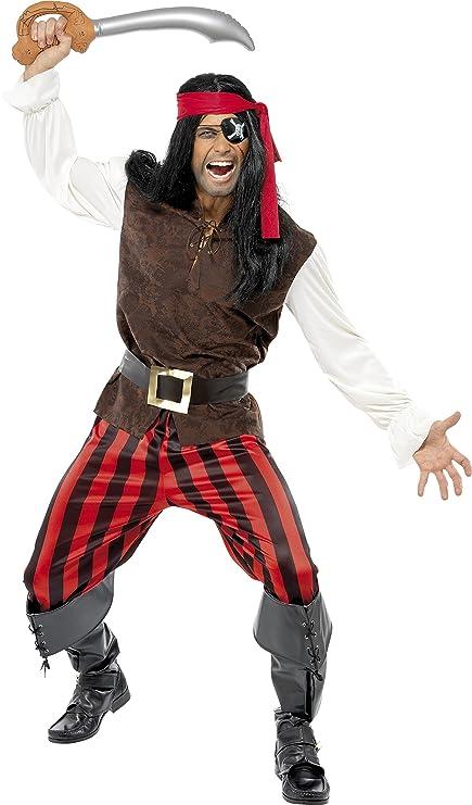 Smiffys - Disfraz de Pirata para Hombre, Talla UK 16 - 18 (32775L)