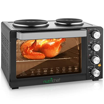 30 Quarts Kitchen Convection Oven   1400 Watt Countertop Turbo, Rotisserie  Roaster Cooker With Grill