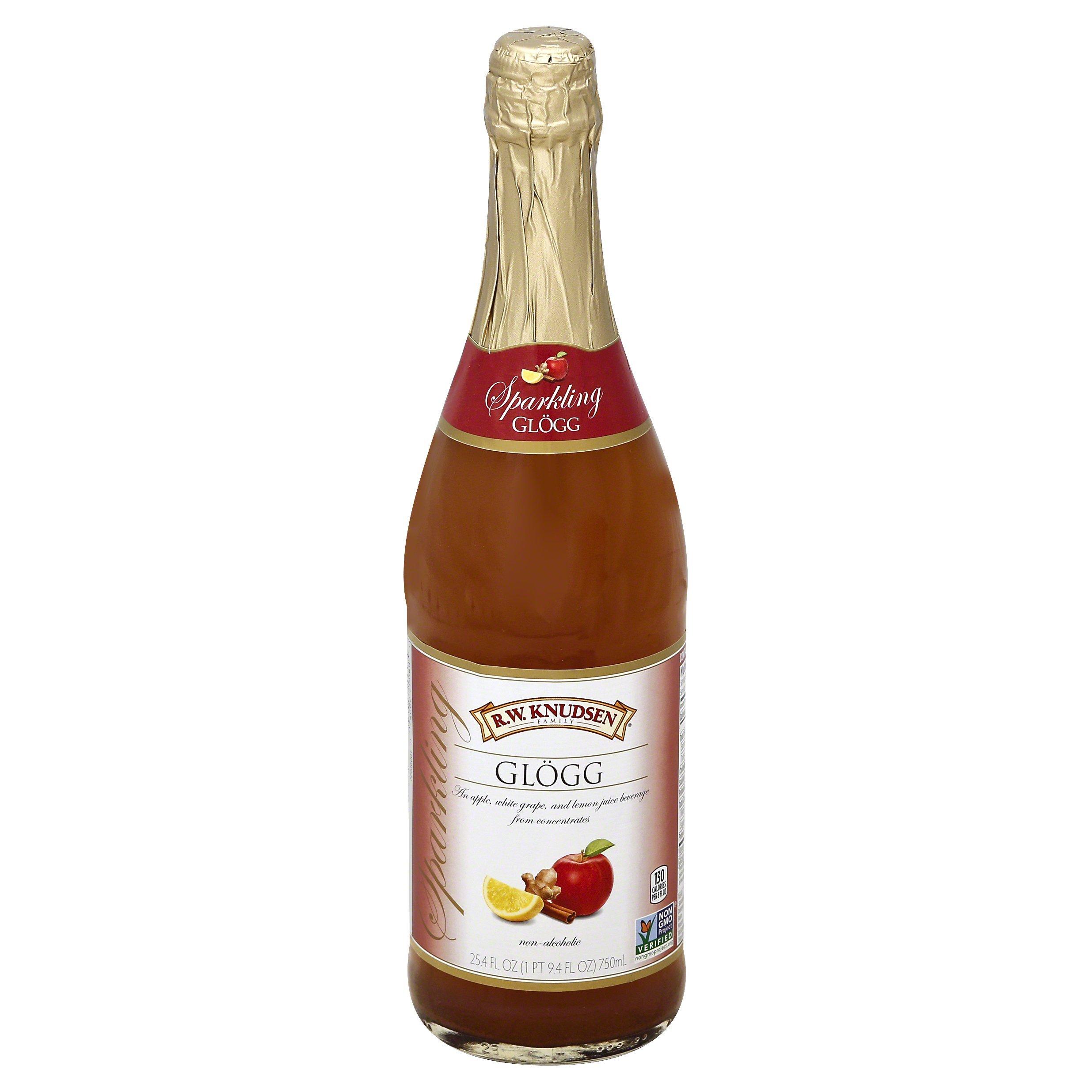R.W. Knudsen Sparkling Glogg, Celebratory Juice, 25.4 fl oz