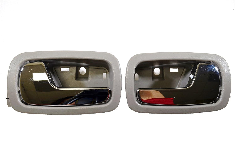 Inside Interior Inner Door Handle//Trim Gray PT Auto Warehouse TO-2469G-DS Left//Right Pair