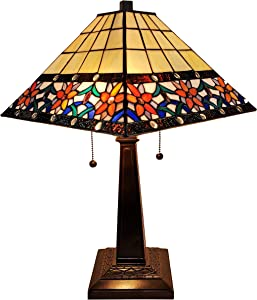 Tiffany Style Table Lamp Banker Mission 23