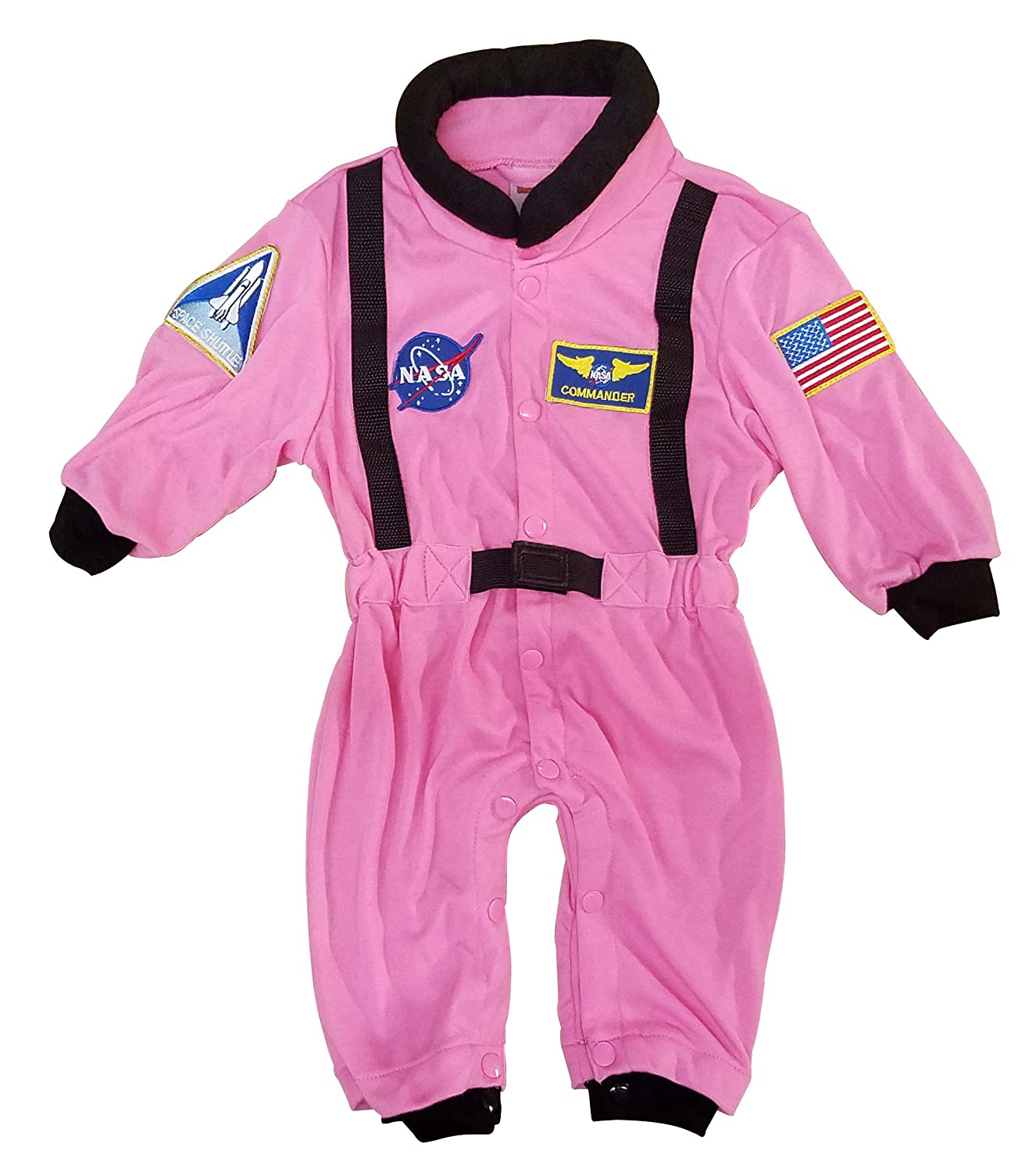 Astronaut Suit with NASA patches and diaper snaps Aeromax Jr Size 6//12 Months WHITE