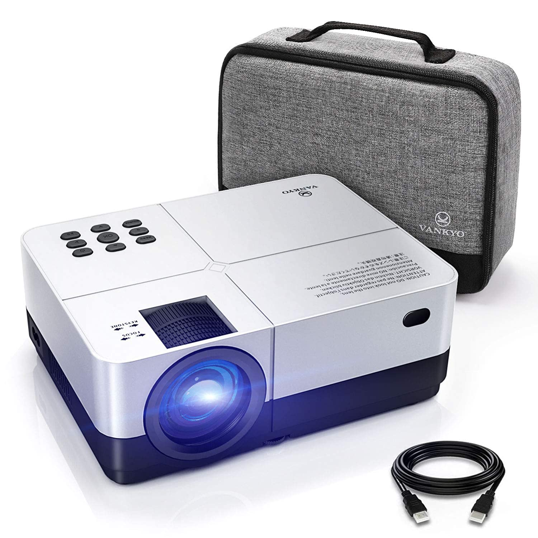 VANKYO Leisure 420 Mini Beamer 3000 Lumen Beamer, LED Videoprojektor mit tragbarer Tasche, unterstützt 1080P Full HD, Heimkino-Projektor Kompatibel mit Fire TV Stick/HDMI /VGA/USB/ AV/SD, Silber