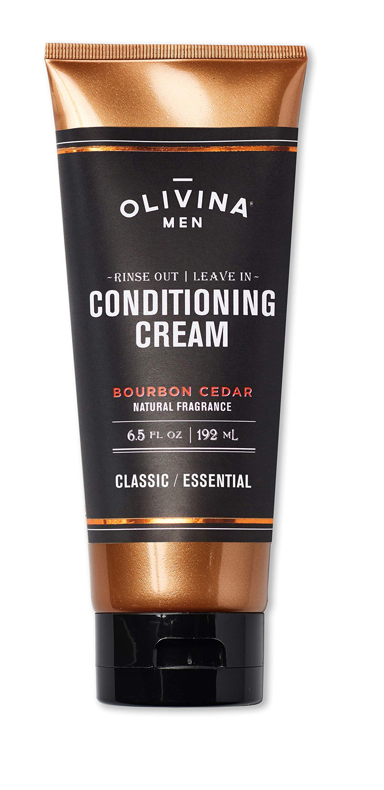 Olivina Men Rinse Out | Leave In Conditioner Cream, Bourbon Cedar, 6.5 Fluid Ounce by olivina men